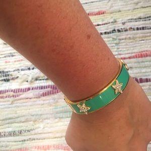 Starfish gold enamel bracelet